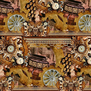 Come Fly With Me Steampunk Collage