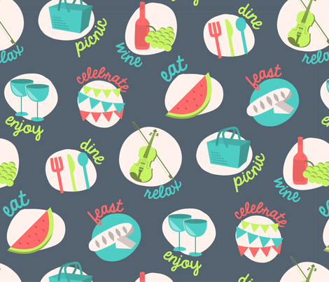 A Picnic With Class fabric by happyprintsshop on Spoonflower - custom fabric