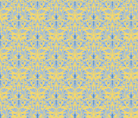 Butter_Ocean_Damask fabric by kelly_a on Spoonflower - custom fabric