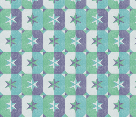 shade and shadow weathered stars ocean blues fabric by glimmericks on Spoonflower - custom fabric