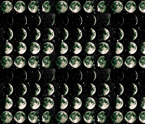 Moon Stripe fabric by haplesschyld on Spoonflower - custom fabric