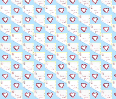 I Love You! fabric by robin_rice on Spoonflower - custom fabric