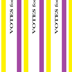 Suffragist Sash - Yellow and Violet