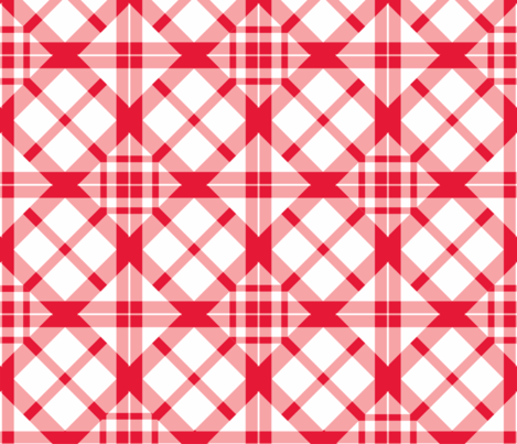 Gingham v2 fabric by facetlab on Spoonflower - custom fabric