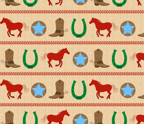Western Roundup fabric by happyprintsshop on Spoonflower - custom fabric