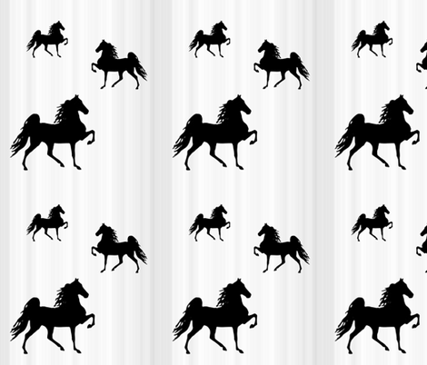Horses-grey_stripe fabric by mammajamma on Spoonflower - custom fabric