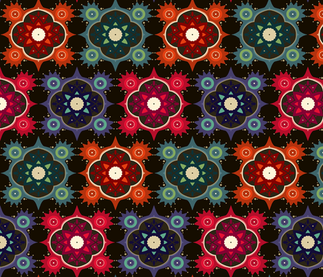 galaxy flowers fabric by scrummy on Spoonflower - custom fabric