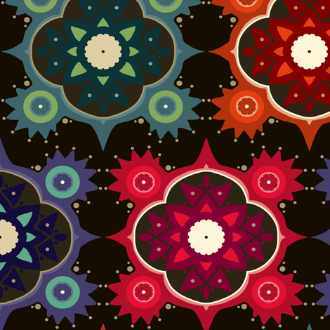 galaxy flowers fabric by scrummy on Spoonflower - custom fabric