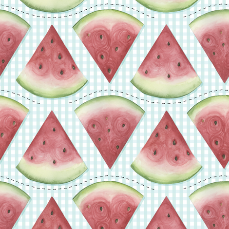 Ants Love Watermelon fabric by jillbyers on Spoonflower - custom fabric