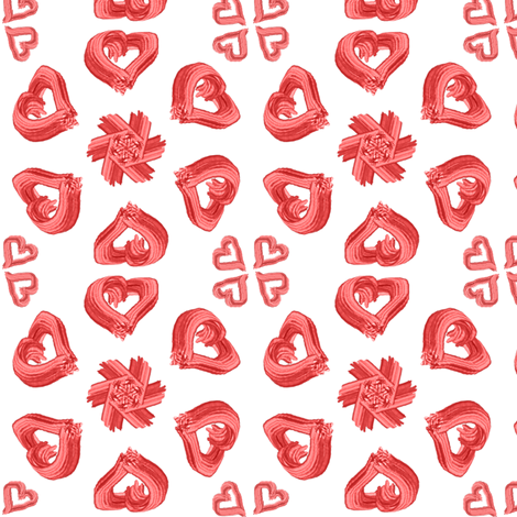 Brushed Hearts fabric by ravynscache on Spoonflower - custom fabric