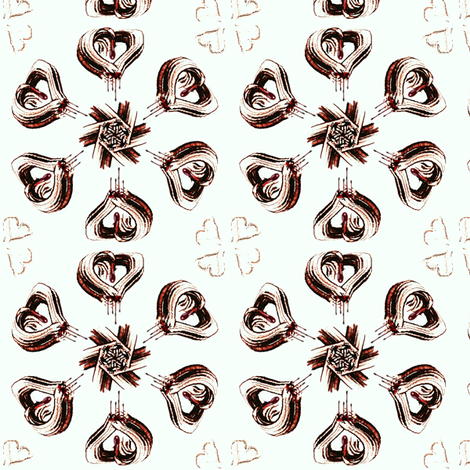 Bleeding Hearts fabric by ravynscache on Spoonflower - custom fabric