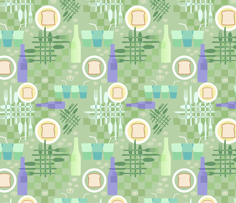 Picnic Elements 1 fabric by vinpauld on Spoonflower - custom fabric