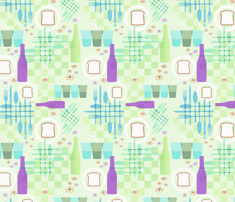 Picnic Elements 3 fabric by vinpauld on Spoonflower - custom fabric