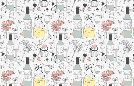classy picnic fabric by luciabarabas on Spoonflower - custom fabric
