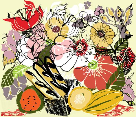 Picnic fabric by pettibear on Spoonflower - custom fabric