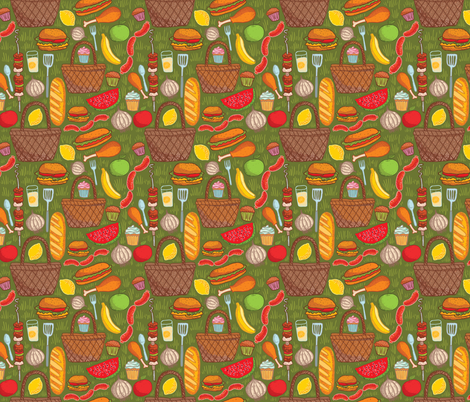 picnic ingredients fabric by kostolom3000 on Spoonflower - custom fabric