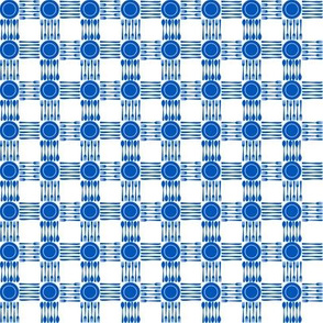 picnic gingham mini in blue
