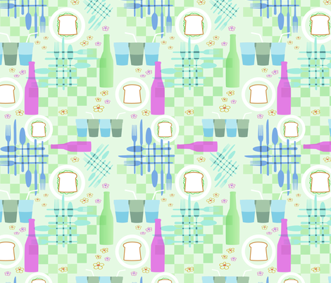 Picnic Elements 4 fabric by vinpauld on Spoonflower - custom fabric