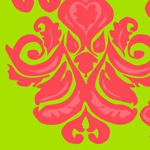 Limey Pink Damask