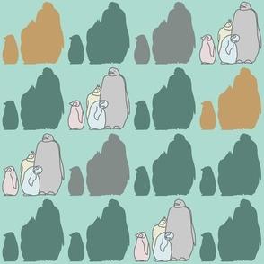 Mom & baby penguins 2