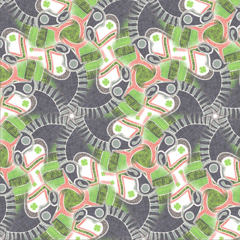 horses art deco fabric by susiprint on Spoonflower - custom fabric