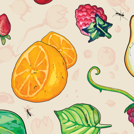 Picnic Fruit fabric by helenaharvey on Spoonflower - custom fabric