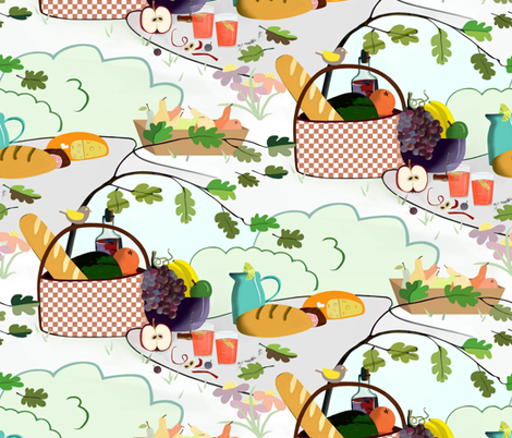 A_picnic_in_the_park fabric by alfabesi on Spoonflower - custom fabric