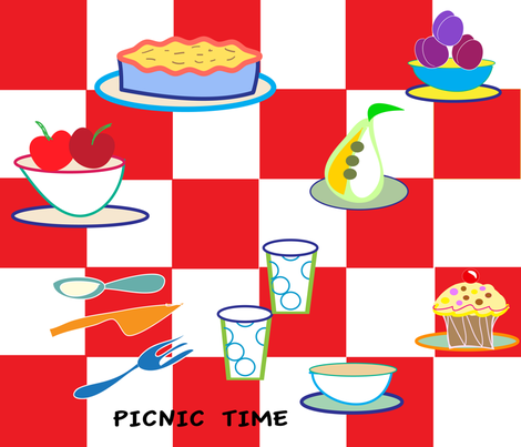 SOOBLOO_PICNIC-01 fabric by soobloo on Spoonflower - custom fabric