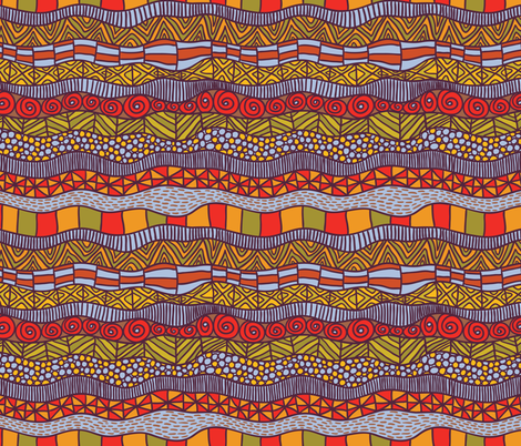 ethnic pattern fabric by apolinarias on Spoonflower - custom fabric