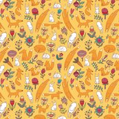 Rfoxes_hares_flowers_yellow_seamless_pattern_shop_thumb