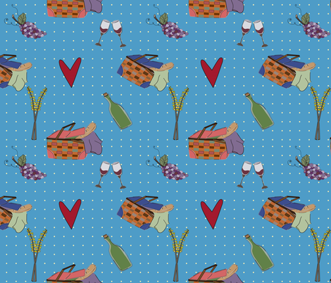 Picnic_love-03 fabric by cheli on Spoonflower - custom fabric