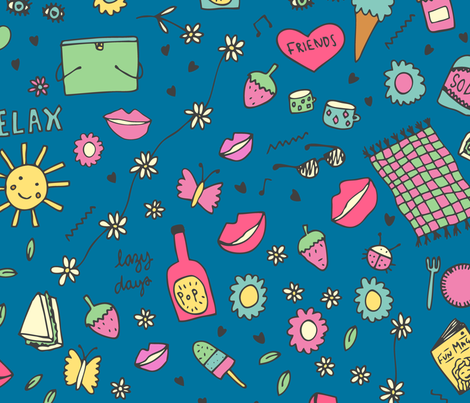 Lazy days fabric by louise_parr on Spoonflower - custom fabric