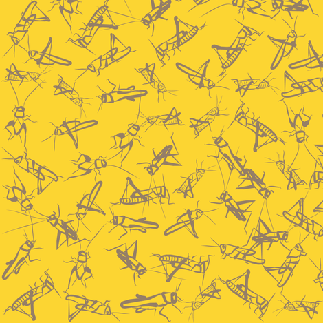 Cricket Summer fabric by smuk on Spoonflower - custom fabric