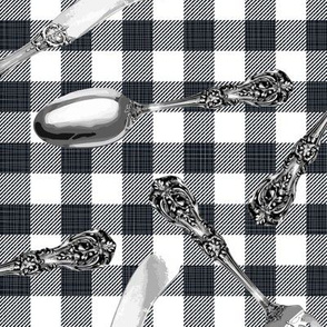 Julie's Picnic Silverware BW