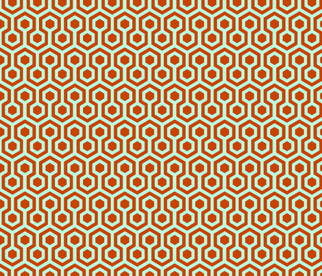 orange hexagons