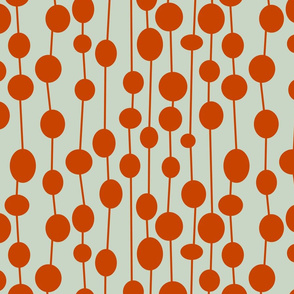Orange Beaded Curtain