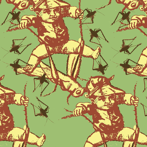 chirrup fabric by nalo_hopkinson on Spoonflower - custom fabric