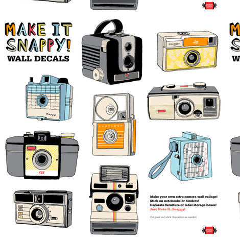 Make It Snappy! Wall Decals fabric by pennycandy on Spoonflower - custom fabric