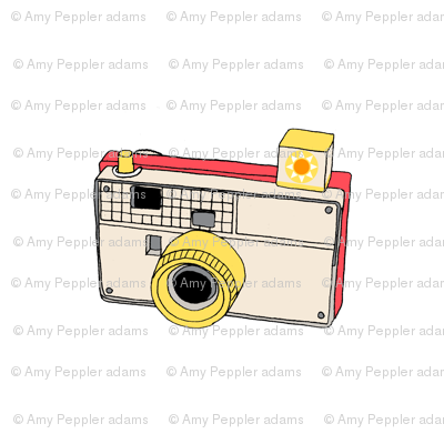 Vintage Toy Camera (White) Wall Decal