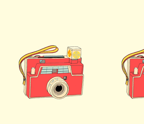 Vintage Toy Camera (Red) Wall Decal fabric by pennycandy on Spoonflower - custom fabric