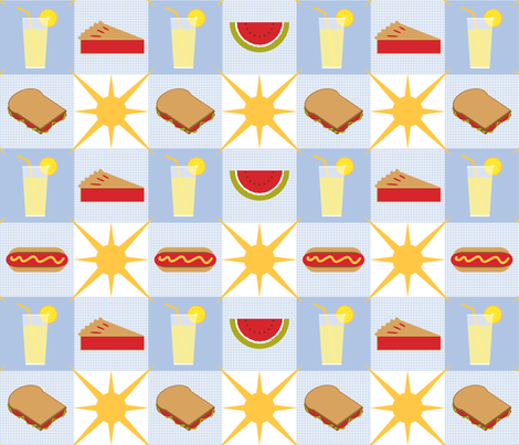 Picnic Fare Gingham fabric by jjtrends on Spoonflower - custom fabric