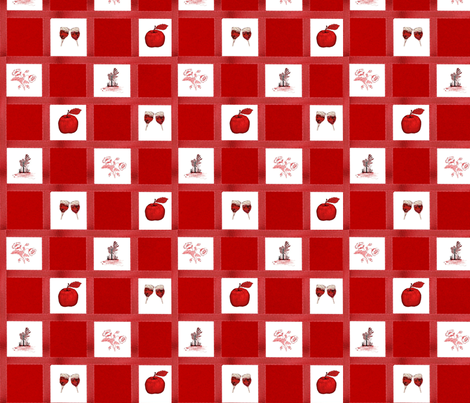 Red_picnic fabric by sewpersonal_designs on Spoonflower - custom fabric