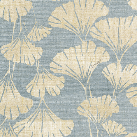 royal ginko - water blue -  fabric by frumafar on Spoonflower - custom fabric