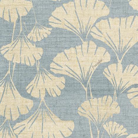 royal ginko - water blue -  fabric by frumafar on Spoonflower - custom fabric