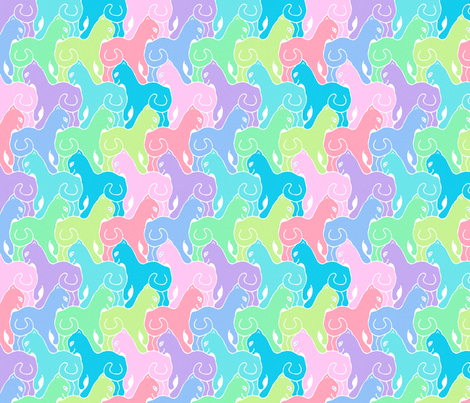 Happy Cats - Rainbow Colors fabric by elramsay on Spoonflower - custom fabric
