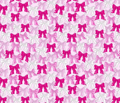 valentine's bows fabric by juneblossom on Spoonflower - custom fabric