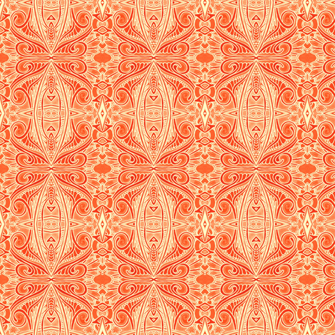 Orange Marmalade Paisley fabric by edsel2084 on Spoonflower - custom fabric