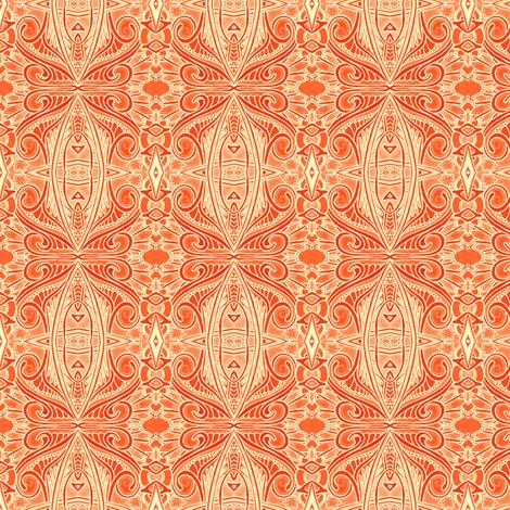 Orange Marmalade Paisley fabric by edsel2084 on Spoonflower - custom fabric