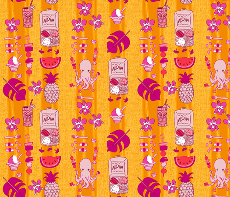 Tako-san's Maui Picnic fabric by aimee on Spoonflower - custom fabric