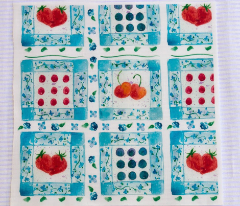 Cherries and Berries Picnic Quilt
